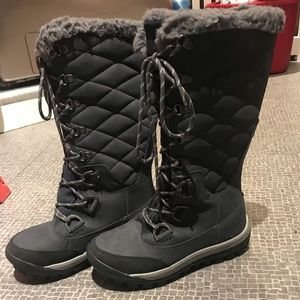 Bearpaw lace up winter and rain boots